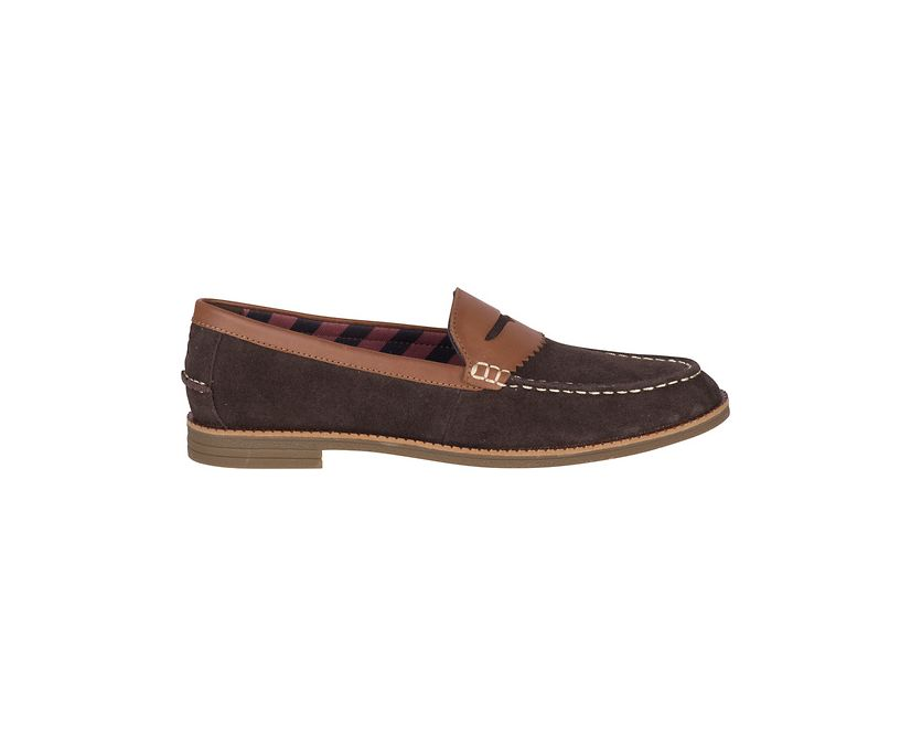 Waypoint Penny Suede Loafer, Brown/Tan, dynamic