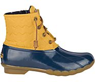 Saltwater Quilted Chevron Duck Boot, Yellow, dynamic