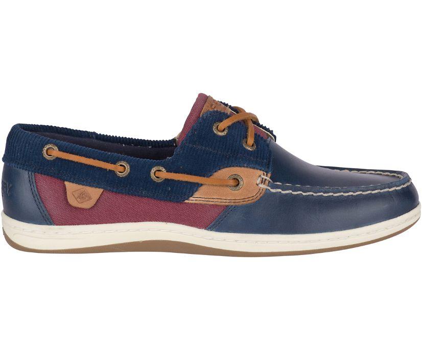 Koifish Corduroy Boat Shoe, Navy/Wine, dynamic