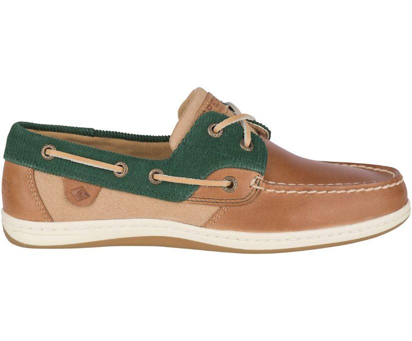 Koifish Corduroy Boat Shoe, Tan/Green, dynamic