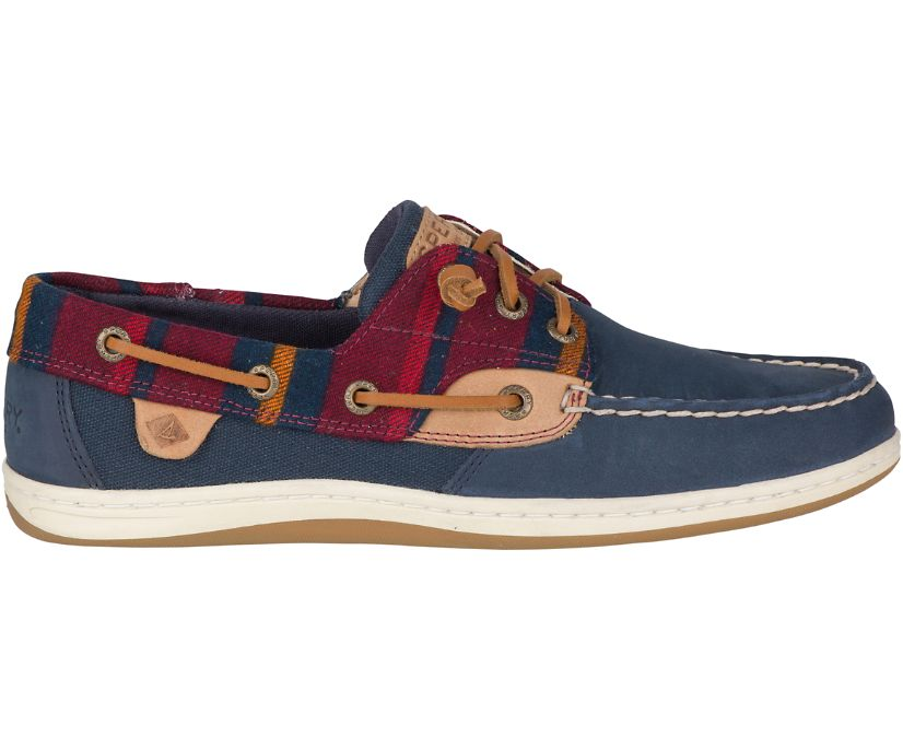 Songfish Varsity Wool Boat Shoe, Navy, dynamic