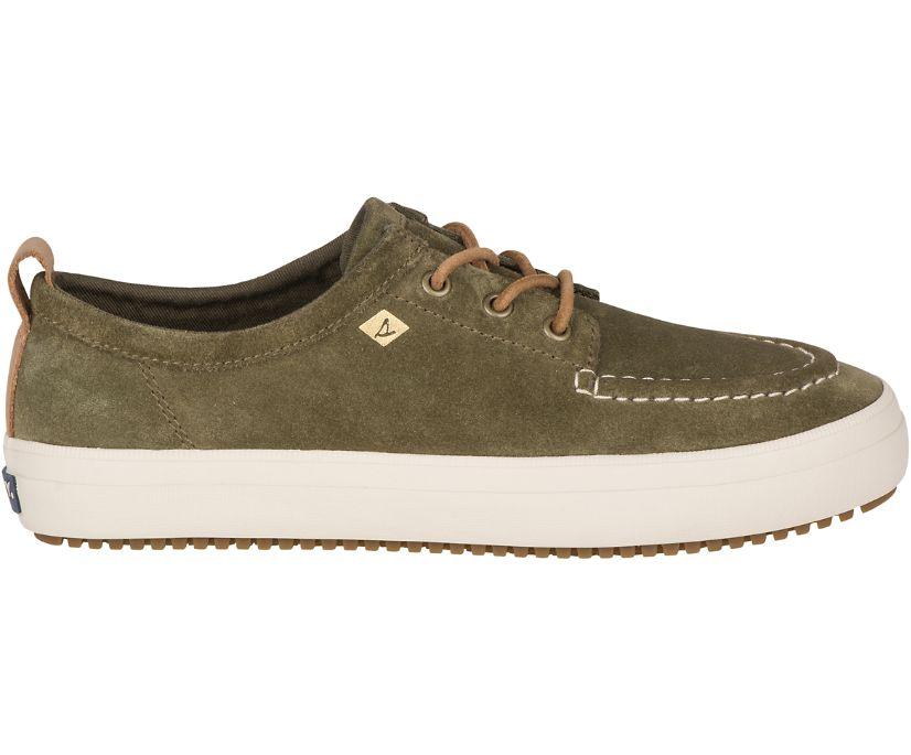 Crest Lug Suede Sneaker, Olive, dynamic