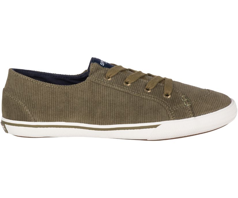 Lounge Corduroy Sneaker, Olive, dynamic