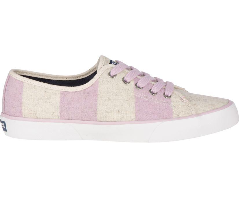 Pier View Striped Wool Sneaker, Lilac/Oat, dynamic