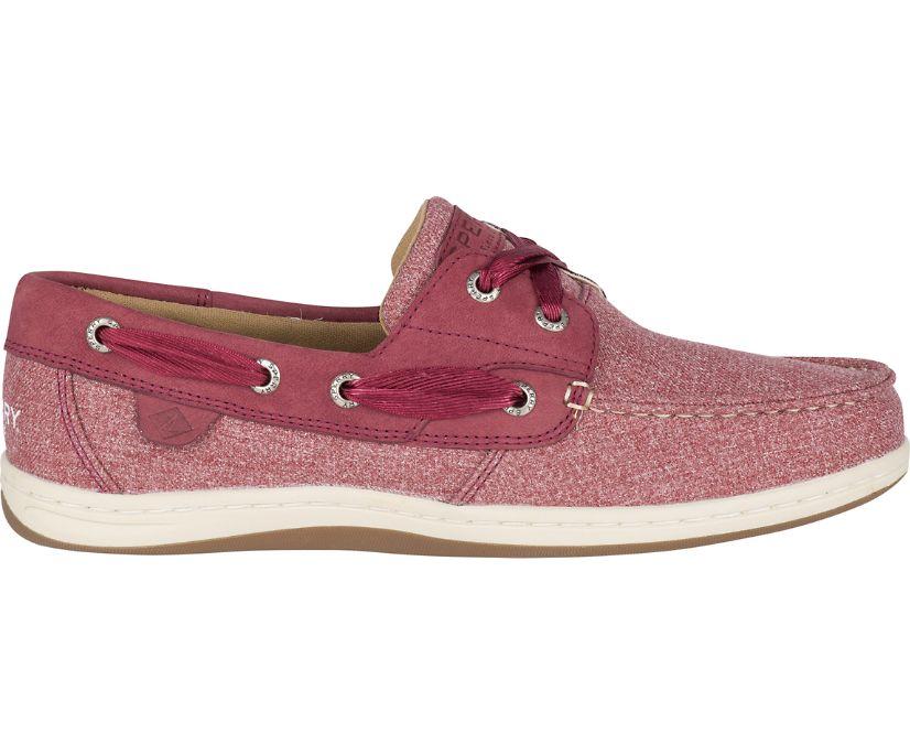 Koifish Sparkle Chambray Boat Shoe, Wine, dynamic