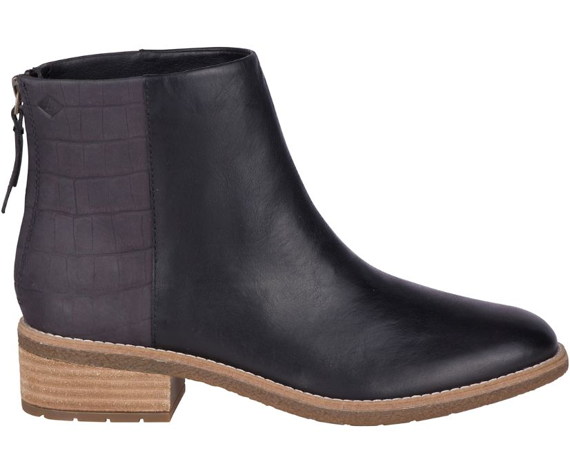 Maya Belle Leather Chelsea Boot, Black, dynamic