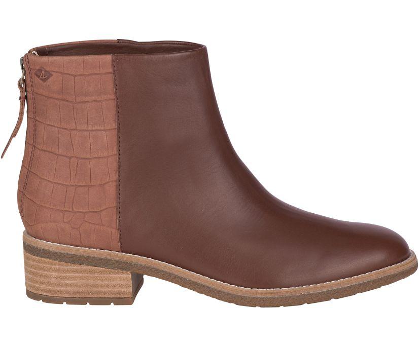 Maya Belle Leather Chelsea Boot, Tan, dynamic