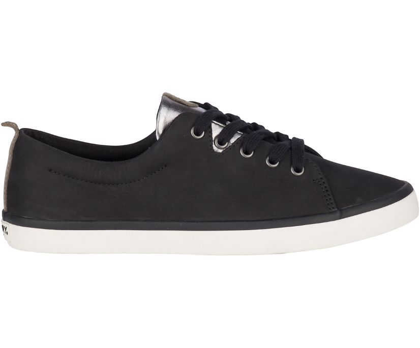 Sailor Leather Sneaker, Black, dynamic