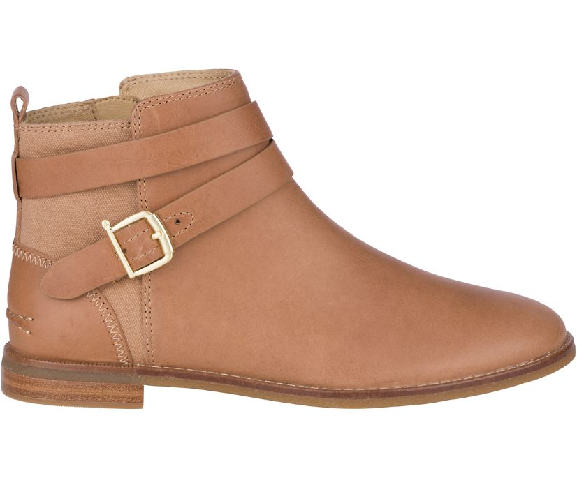 Seaport Shackle Leather Boot, Tan, dynamic