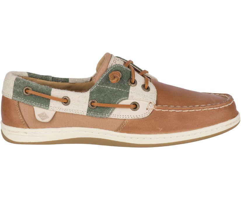 Songfish Varsity Wool Boat Shoe, Tan, dynamic