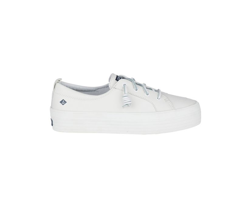 Crest Vibe Platform Leather Sneaker, White, dynamic