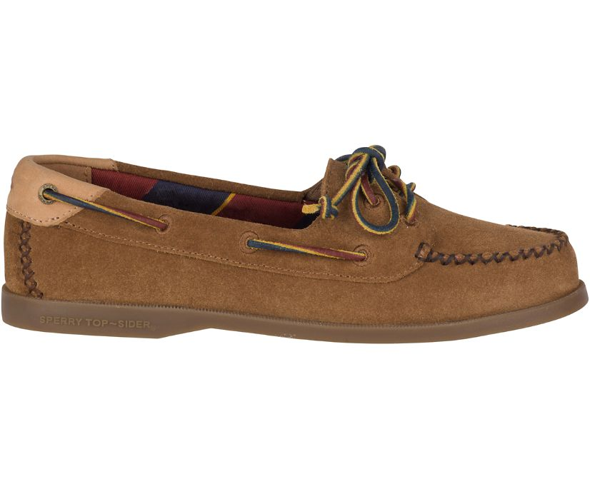 Authentic Original Venice Varsity Suede Boat Shoe, Tan, dynamic