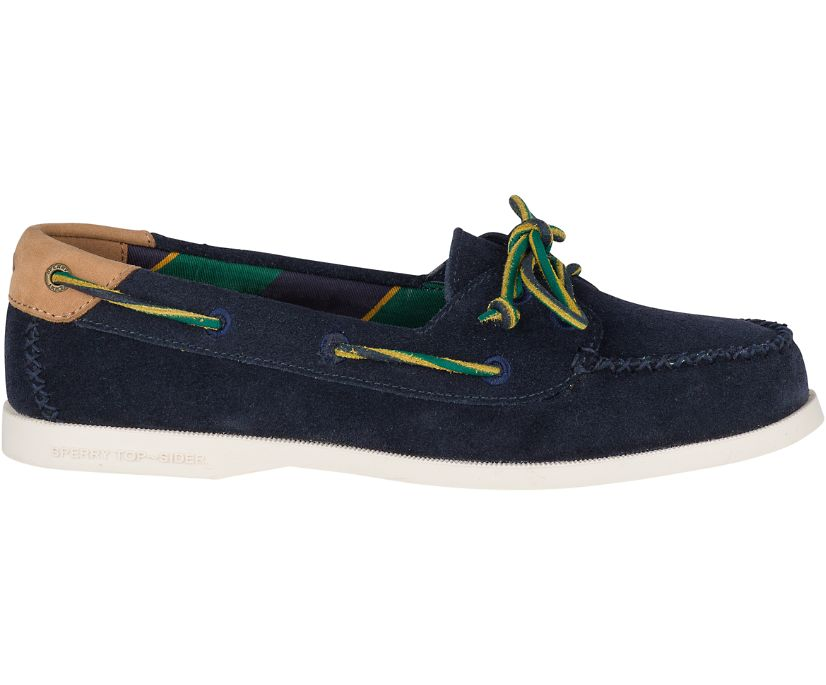 Authentic Original Venice Varsity Suede Boat Shoe, Navy, dynamic
