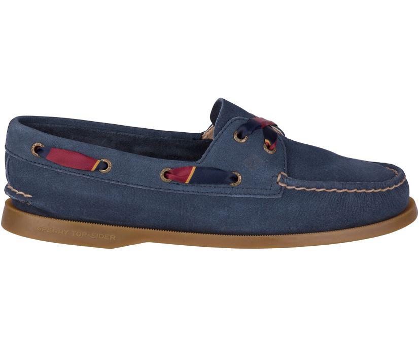 Authentic Original 2-Eye Varsity Boat Shoe, Navy, dynamic