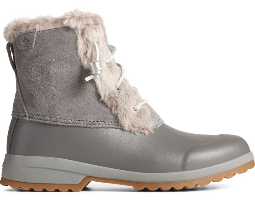 Maritime Repel Suede Snow Boot, Grey, dynamic