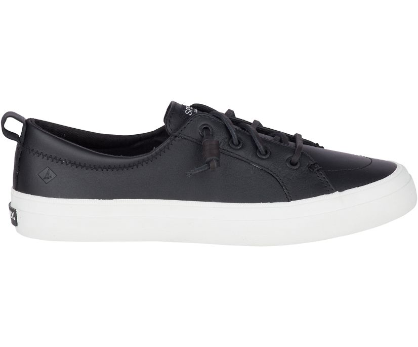 Crest Vibe Leather Sneaker, Black, dynamic