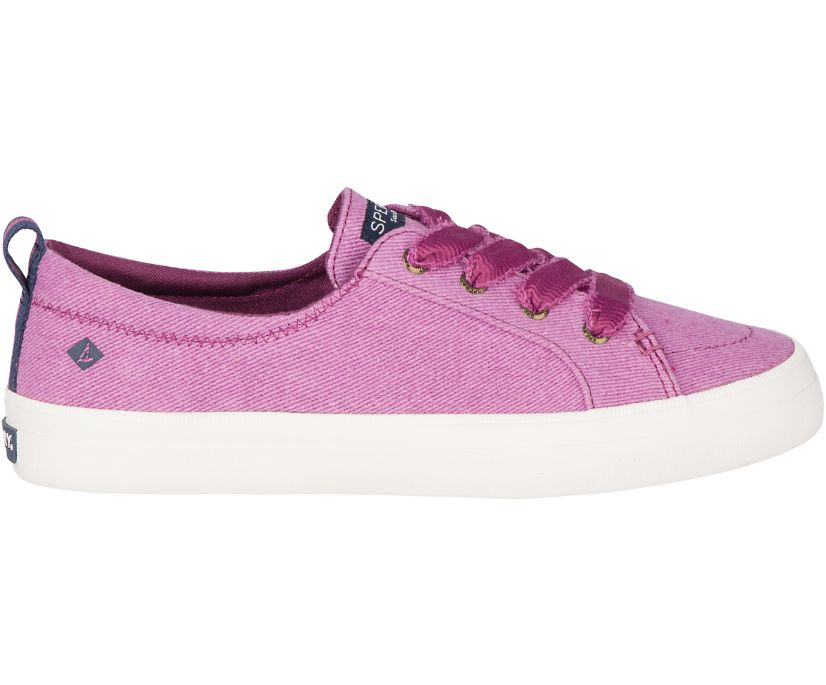 Crest Vibe Vintage Twill Sneaker, Berry, dynamic
