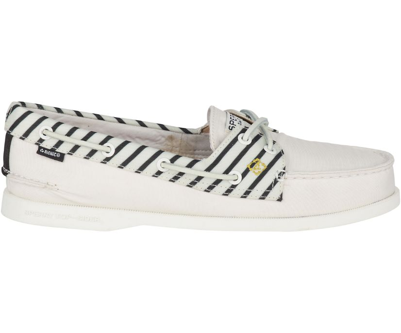 Authentic Original BIONIC® Boat Shoe, Off White, dynamic