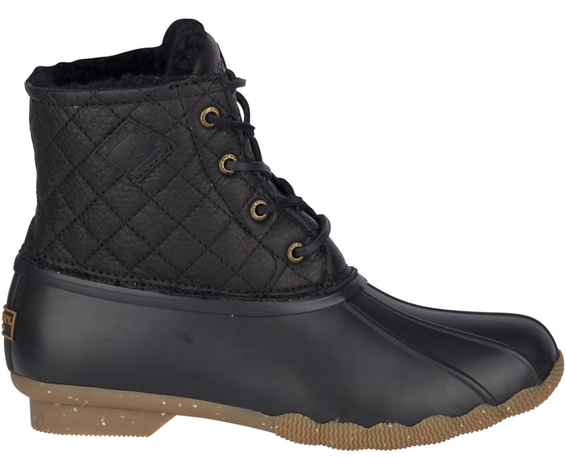 Saltwater Winter Luxe Duck Boot, Black Quilt, dynamic