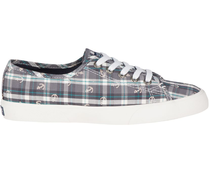 Pier View Anchor Sneaker, Grey/Plaid, dynamic