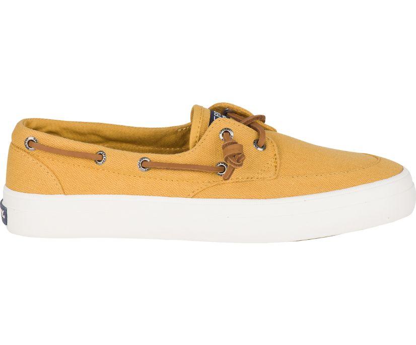 Crest Barrel Tie Boat Shoe, Yellow, dynamic