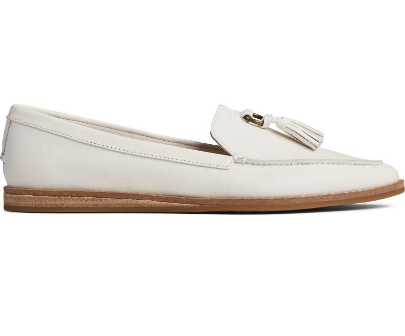 Saybrook Slip On Leather Loafer, Ivory, dynamic