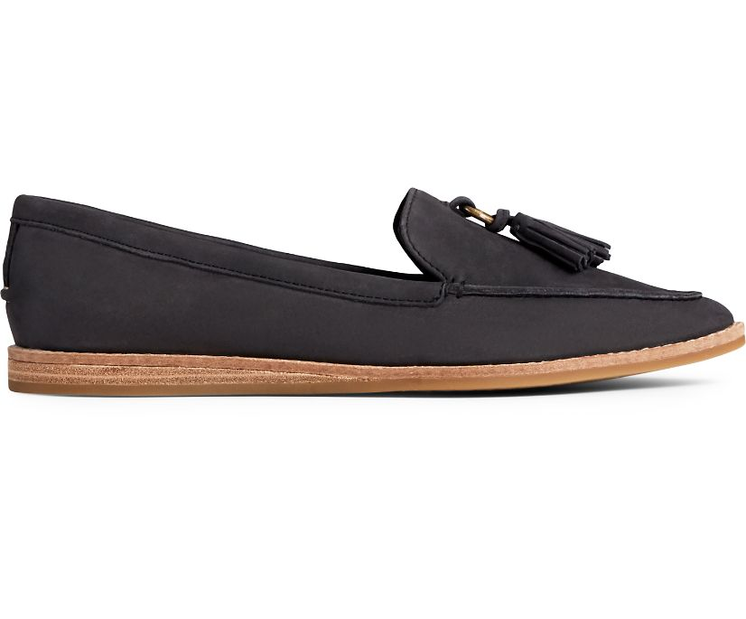 Saybrook Slip On Leather Loafer, Black, dynamic