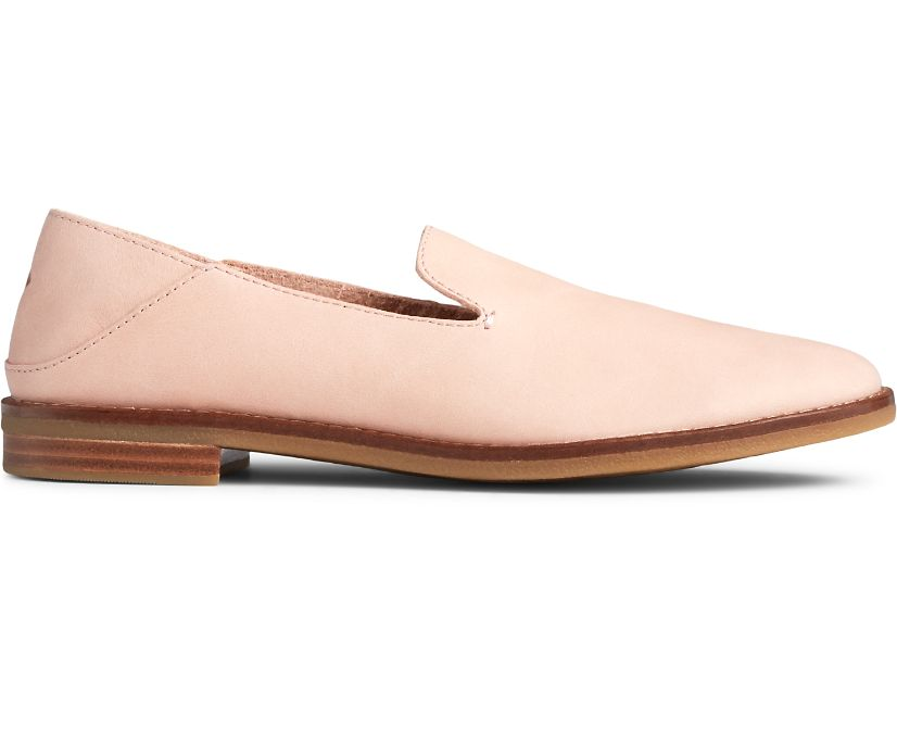 Seaport Levy Smooth Leather Loafer, Rose Dust, dynamic