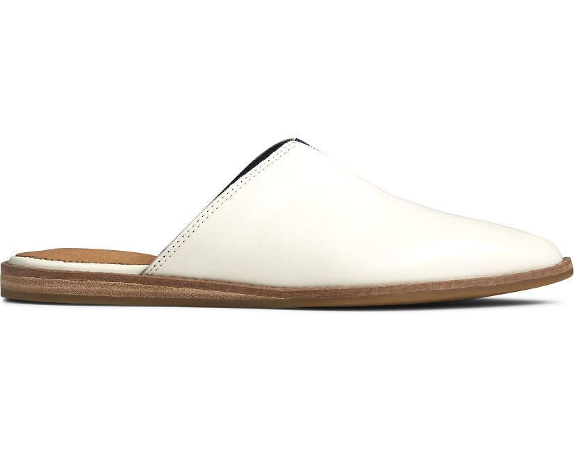 Saybrook Leather Mule, White, dynamic