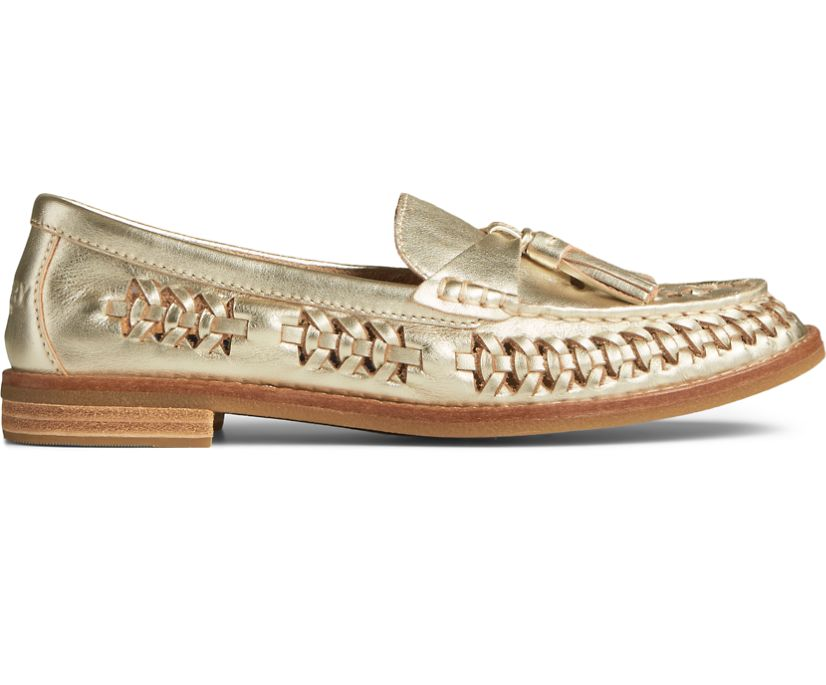 Seaport PLUSHWAVE Woven Loafer, Platinum, dynamic