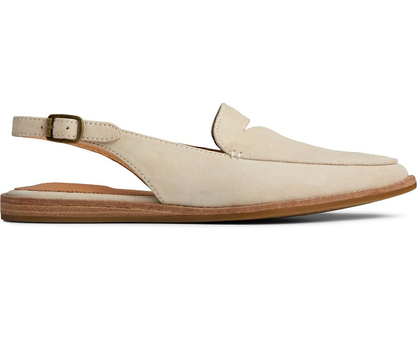 Saybrook Leather Slingback, Ivory Nubuck, dynamic