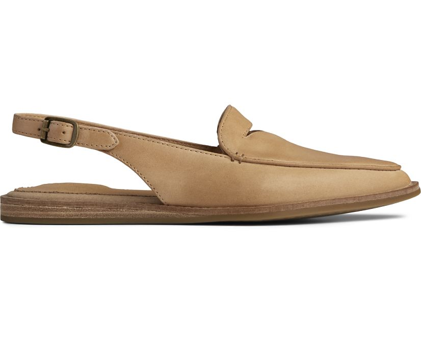 Saybrook Leather Slingback, Tan, dynamic