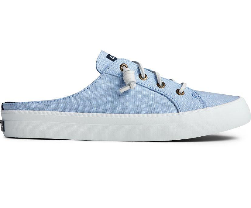 Crest Vibe Chambray Mule Sneaker, Blue, dynamic