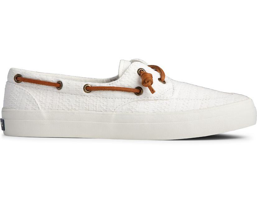 Crest Boat Smocked Hemp Sneaker, White, dynamic