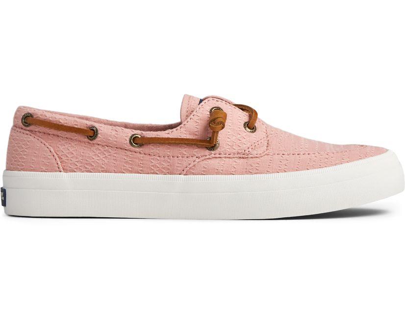 Crest Boat Smocked Hemp Sneaker, Rose, dynamic
