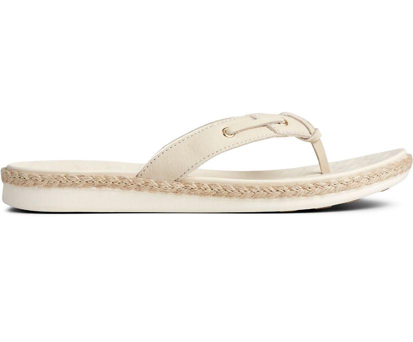 Adriatic Thong Skiplace Jute Wrap Flip Flop, Ivory, dynamic