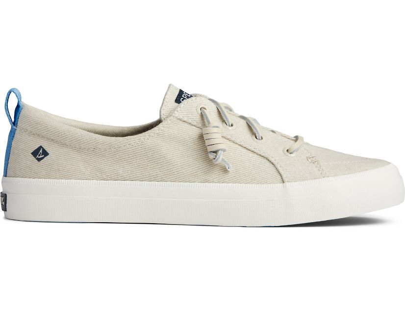 Crest Vibe Washed Twill Sneaker, White, dynamic