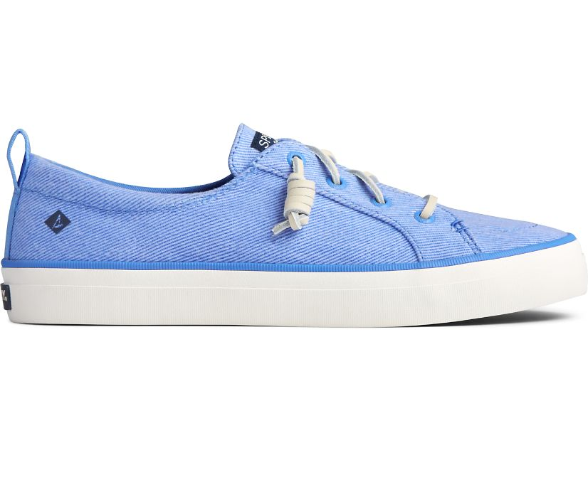 Crest Vibe Washed Twill Sneaker, Bright Blue, dynamic
