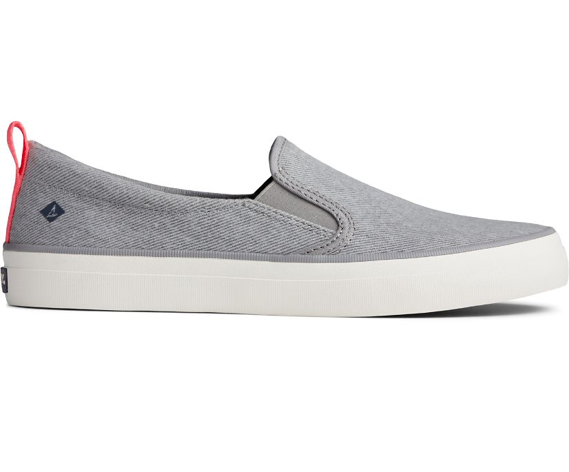 Crest Twin Gore Washed Twill Sneaker, Grey, dynamic