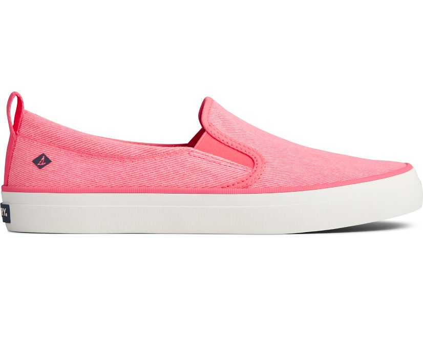 Crest Twin Gore Washed Twill Sneaker, Neon Pink, dynamic