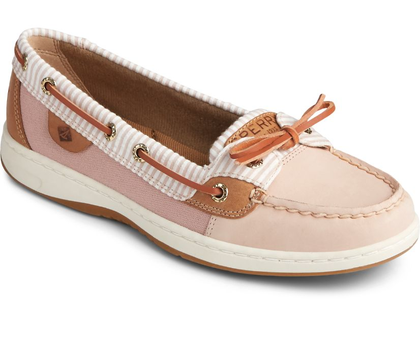 Angelfish Seersucker Boat Shoe, Rose Dust, dynamic