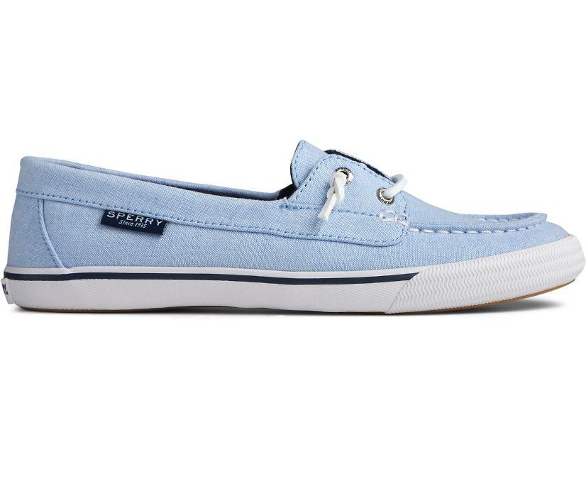 Lounge Away Chambray Sneaker, Blue, dynamic