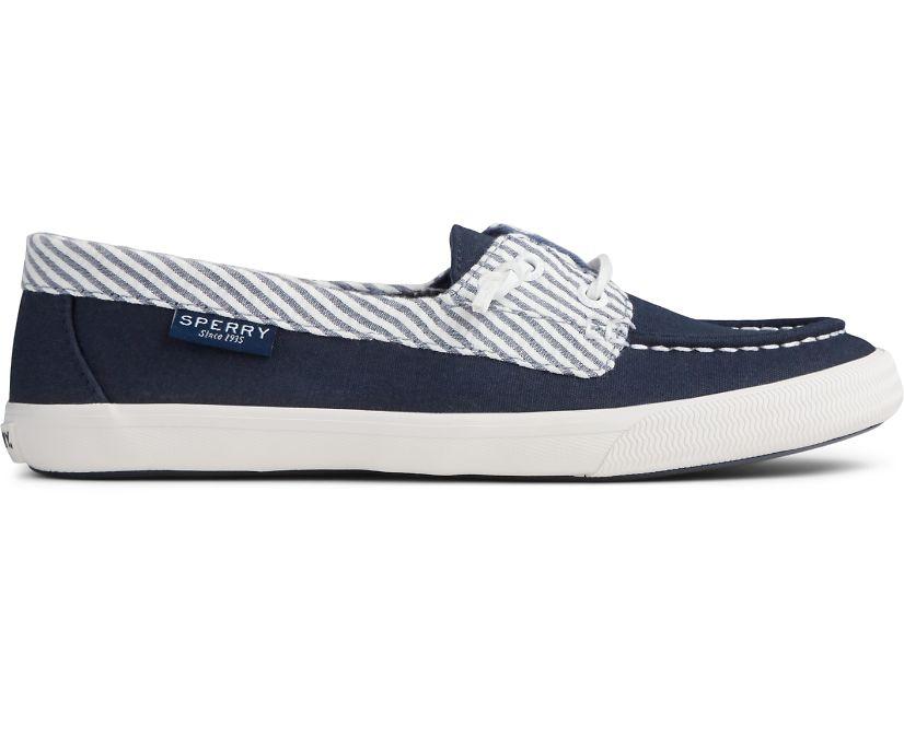Lounge Away Seersucker Sneaker, Navy, dynamic