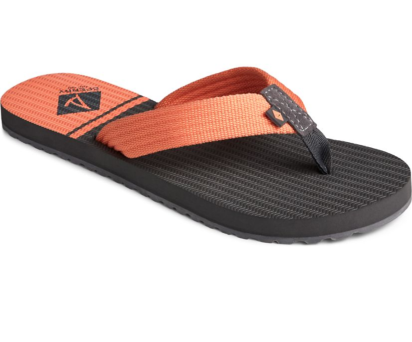 Calypso 3 Point Flip Flop, Smoked Pearl/Coral Reef, dynamic
