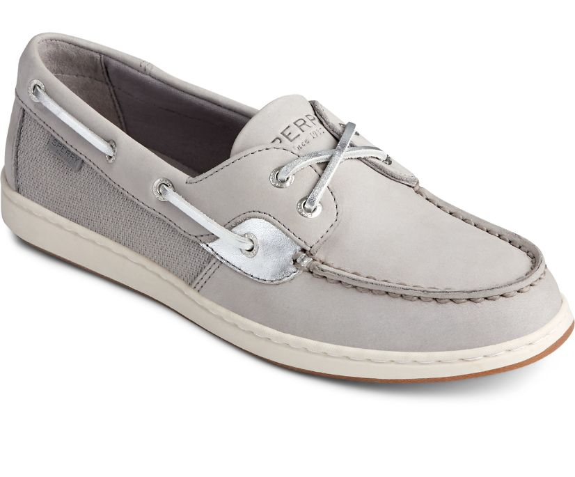 Coastfish Boat Shoe, Grey/Silver, dynamic