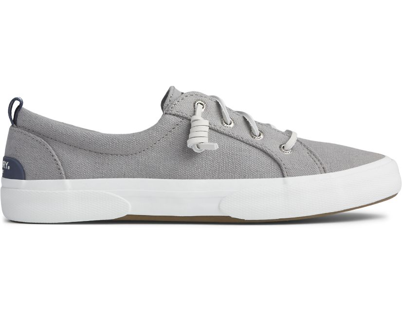 Pier Wave Canvas Sneaker, Grey, dynamic