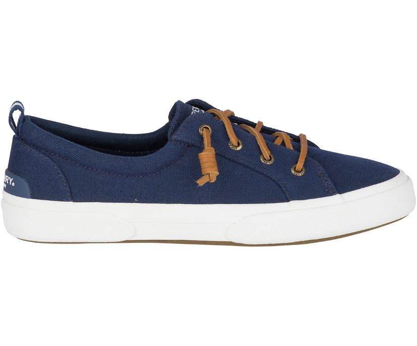 Pier Wave Canvas Sneaker, Navy, dynamic