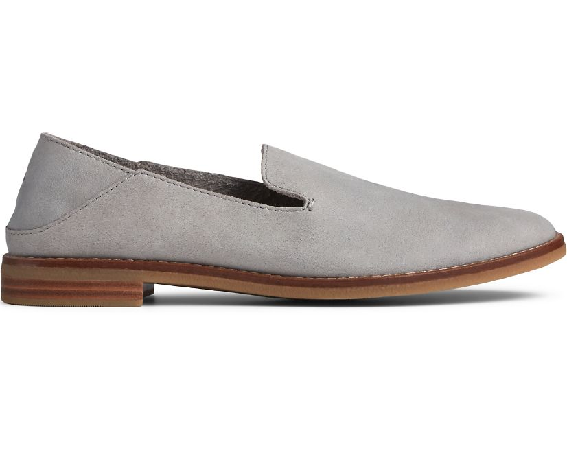 Seaport Levy Smooth Leather Loafer, Grey, dynamic