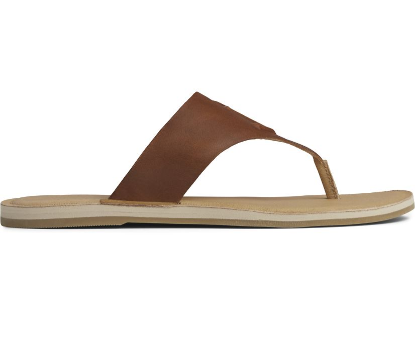 Seaport Thong Leather Sandal, Cathay Spice, dynamic