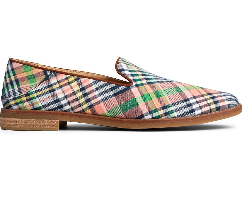 Seaport Levy Washed Plaid Loafer, Kick Back Plaid, dynamic